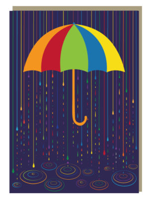Rainbow Drops Nightlight Greeting Card
