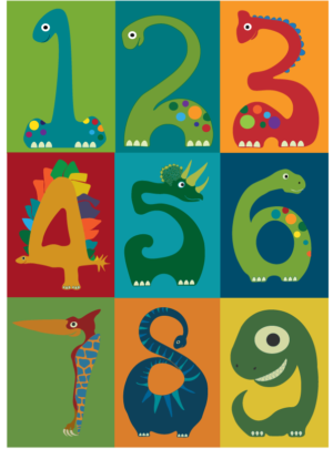 Dino count numbers