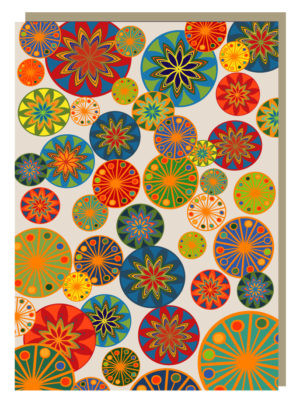 Festive Circles Greeting Card