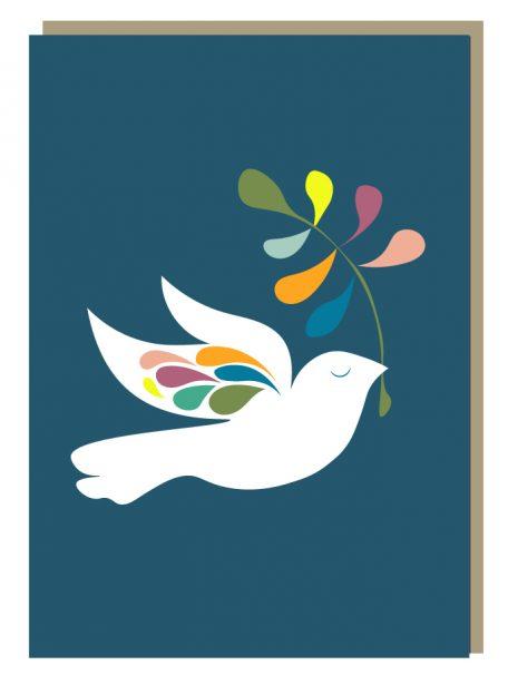 Peace Wings Christmas Card